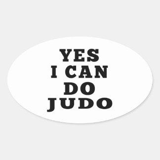 Puedo hacer sí judo calcomania ovalada
