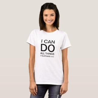 Puedo hacer toda la camiseta de las mujeres de las