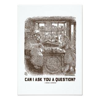 ¿Puedo hacerle una pregunta? (Ovejas de Alicia) Invitación 12,7 X 17,8 Cm