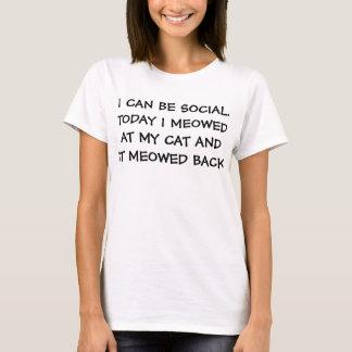 Puedo ser social camiseta