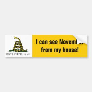 ¡Puedo ver noviembre de mi casa! Pegatina Para Coche