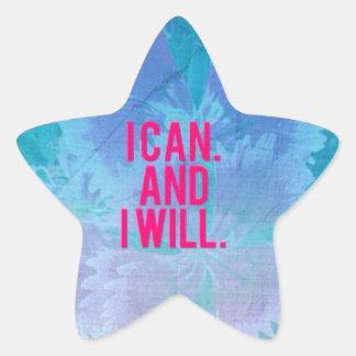¡Puedo y lo voy a hacer! Pegatina En Forma De Estrella