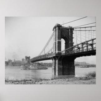 Puente colgante de Juan A. Roebling Póster
