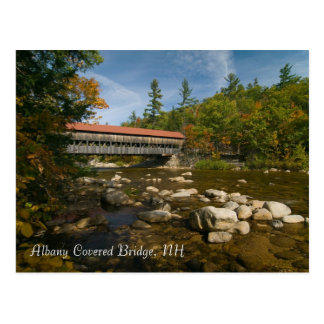 Puente cubierto de Albany, postal     del NH