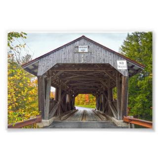 Puente cubierto de la casa del poder, Vermont Arte Fotográfico