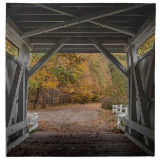 Puente cubierto del camino de Everatt Servilletas Imprimidas