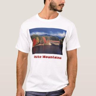 Puente cubierto del río de Saco, montañas blancas Camiseta