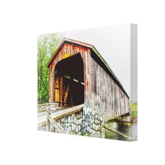 Puente cubierto -- Impresión del arte de la lona