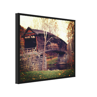 Puente cubierto lienzo