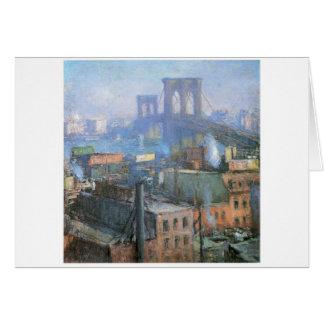 Puente de Brooklyn, East River, circa 1916 Tarjeta De Felicitación