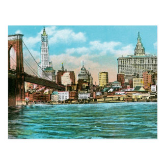 Puente de Brooklyn, Woolworth y Municipal… Postal