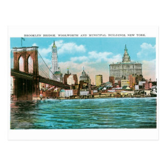 Puente de Brooklyn, Woolworth y Municipal… Postal