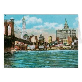 Puente de Brooklyn, Woolworth y Municipal… Tarjeta De Felicitación