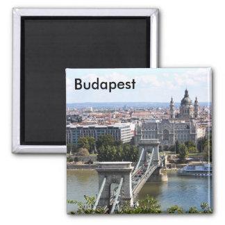 Puente de cadena de Szechenyi, Budapest, Hungría,  Imán Cuadrado