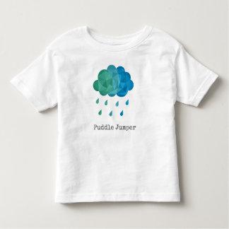 Puente de charco azul geométrico de la nube de camiseta de bebé