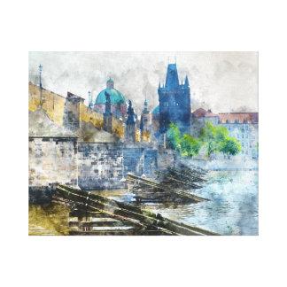 Puente de Charles en la República Checa de Praga Impresión En Lienzo