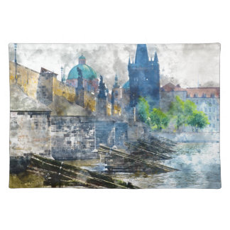 Puente de Charles en la República Checa de Praga Salvamanteles
