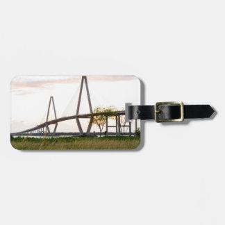 Puente de Charleston Carolina del Sur - río del Etiqueta Para Maletas