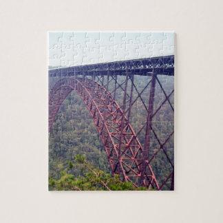 Puente de garganta de nuevo río puzzles