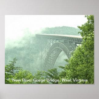 Puente de garganta de nuevo río WVa Póster