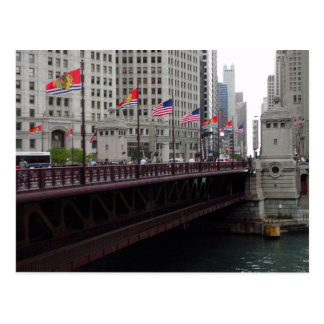 Puente de la avenida de Michigan, Chicago, IL Postal