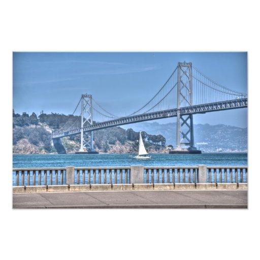 Puente de la bahía fotografias