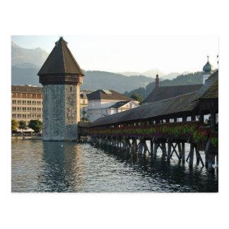 Puente de la capilla en Alfalfa Suiza Postal