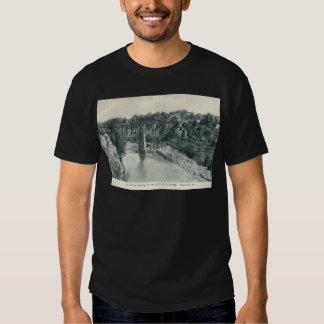 Puente de la garganta del río, vintage de camisetas