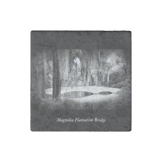 Puente de la magnolia imán de piedra