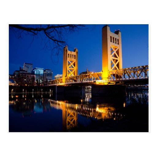 Puente de la torre - Sacramento, CA Tarjeta Postal