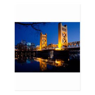Puente de la torre - Sacramento CA Tarjetas Postales