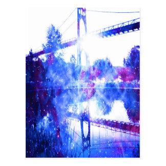 Puente de los sueños del amante a dondequiera postal