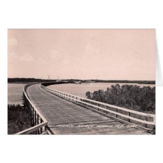 Puente de Marco, isla del marco, la Florida, los a Tarjeta De Felicitación