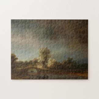 Puente de piedra de Rembrandt Puzzle