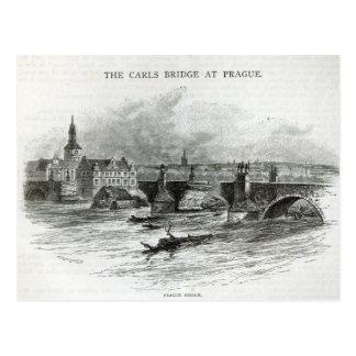 """Puente de Praga, a partir de la """"hora del ocio"""", Postal"""