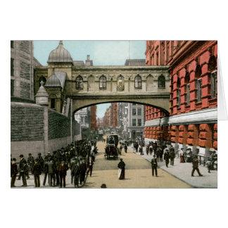 Puente de suspiros, Nueva York Tarjeta De Felicitación