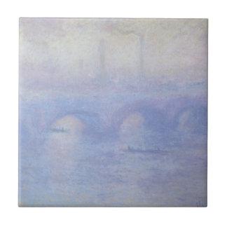 Puente de Waterloo, efecto de la niebla de Claude Azulejos Cerámicos