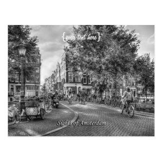 Puente de Wolvenstraat Singel, vistas de Amsterdam Postal
