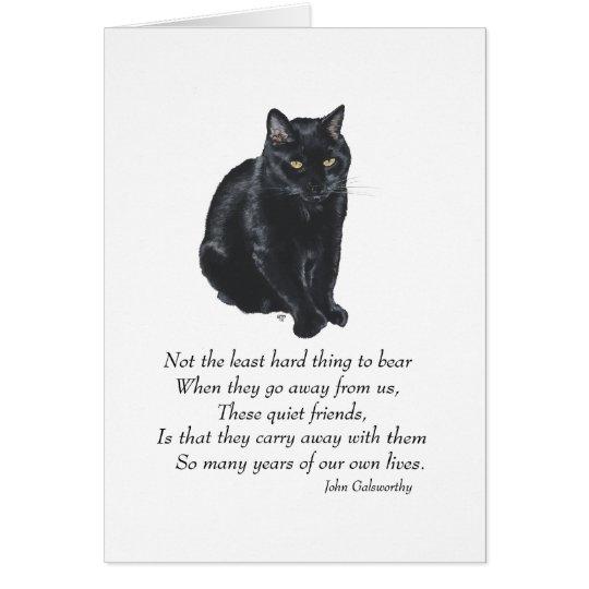 Puente del arco iris del gato negro tarjeta de felicitación