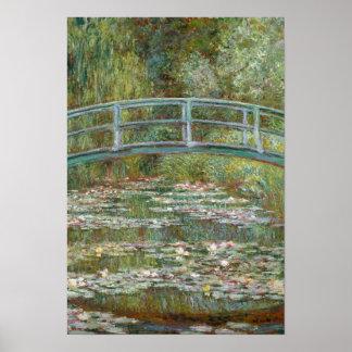 Puente del arte de Monet sobre una charca de los