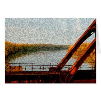 Puente del ferrocarril tarjeta