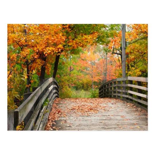 Puente del otoño postal