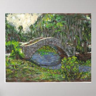 Puente del parque de la ciudad, New Orleans Póster