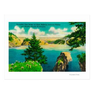 Puente del paso del engaño, Fidalgo e isla de Postal