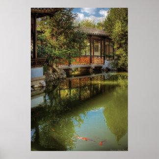 Puente - el jardín chino póster