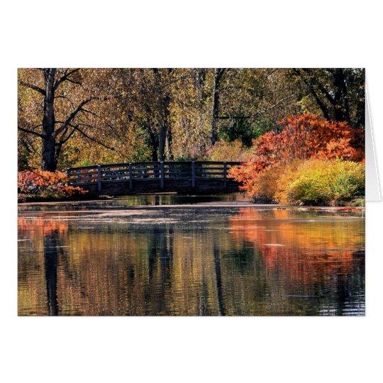 Puente en la tarjeta de la caída
