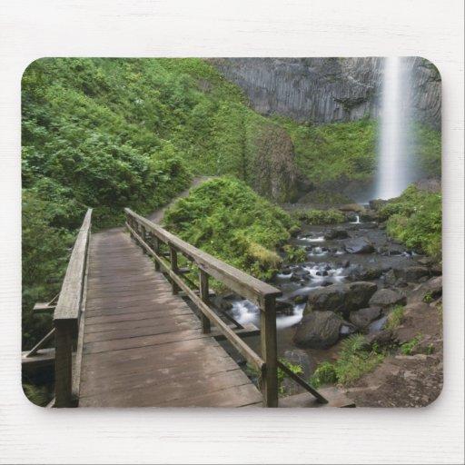 Puente en las caídas de Latourell, garganta del rí Alfombrillas De Raton
