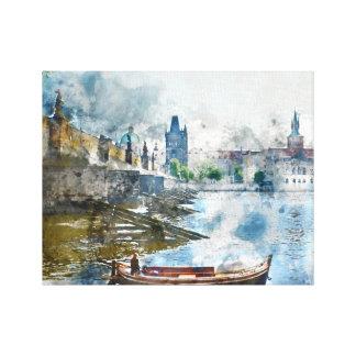 Puente en Praga, República Checa Impresión En Lienzo