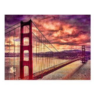 Puente Golden Gate en San Francisco, California Postal