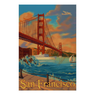 Puente Golden Gate - San Francisco, poster de CA Póster